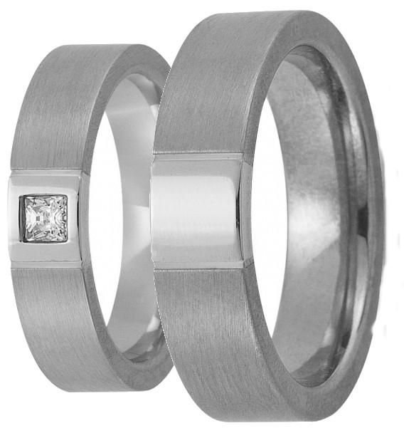 Weißgold ring ohne stein  Trauring Gerstner 4/20875/5*1d0.12_20875/6 Ringbreite (ring Ste 5 ...