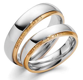 Weißgold ring ohne stein  Trauringe Gerstner 28411/6 Ringbreite ( 5mm, [) Weissgold ...