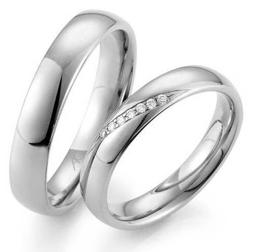 Weißgold ring ohne stein  Trauringe Gerstner 4/28487/4 - 28487/4.5 Weissgold [375] 7 ...