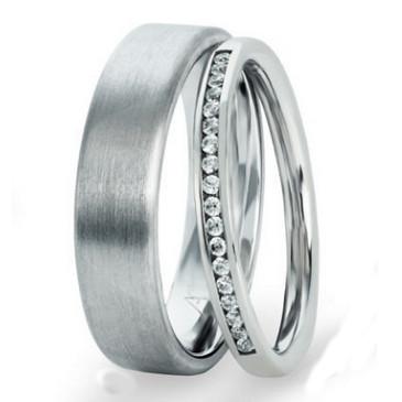 Weißgold ring ohne stein  Trauringe Gerstner 29731/2.1 - 28400/5 ring n 2,1 mm 17 Brillanten ...