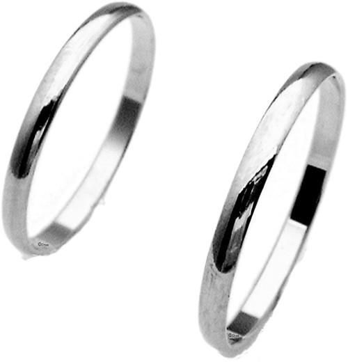 Weißgold ring ohne stein  Holzhausener Trauringe - Geißlerr g2l [2 mm] Weissgold [750 ...